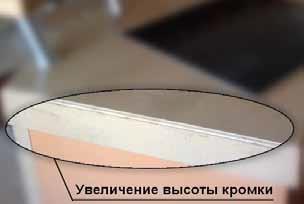 Увеличение высоты кромки